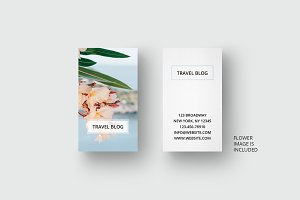 Traveling business card template