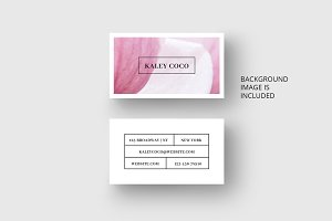 Business card template with petal
