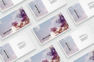 Purple tree business card template