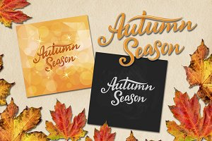 Autumn Season Lettering