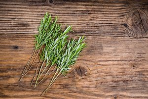 Stems of rosemary herb for skewers