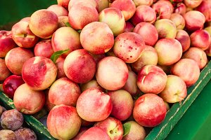 Fresh nectarines at the market