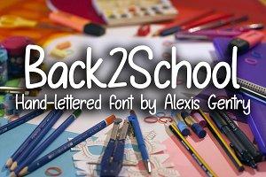 Back2School hand-lettered font
