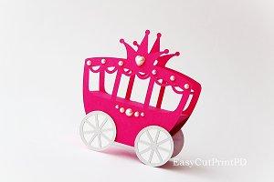 Princess Carriage box template