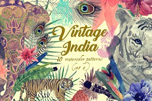Vintage India 10 patterns (set 4)