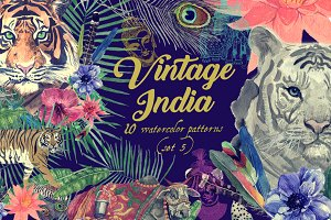Vintage India 10 patterns (set 5)