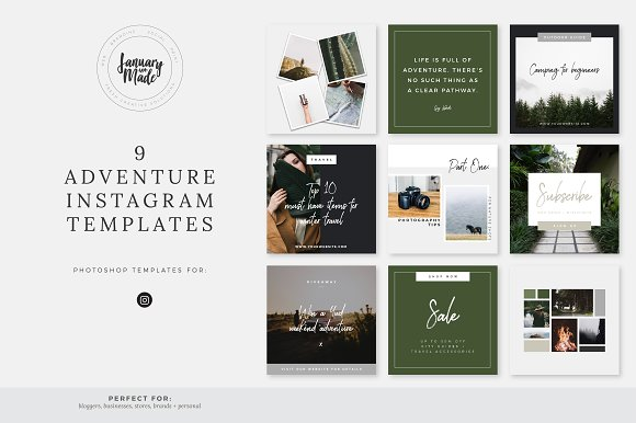 Adventure Instagram Template Pack