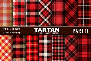 Seamless  Tartan Pattern Part -11
