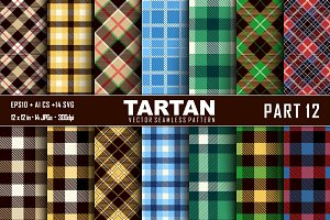 Seamless  Tartan Pattern Part -12