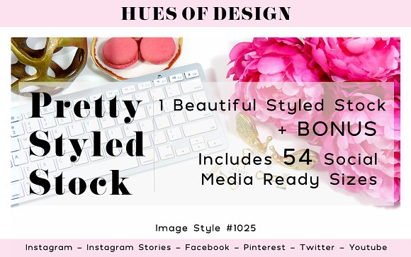 Pink Gold Desktop Styled Stock 1025