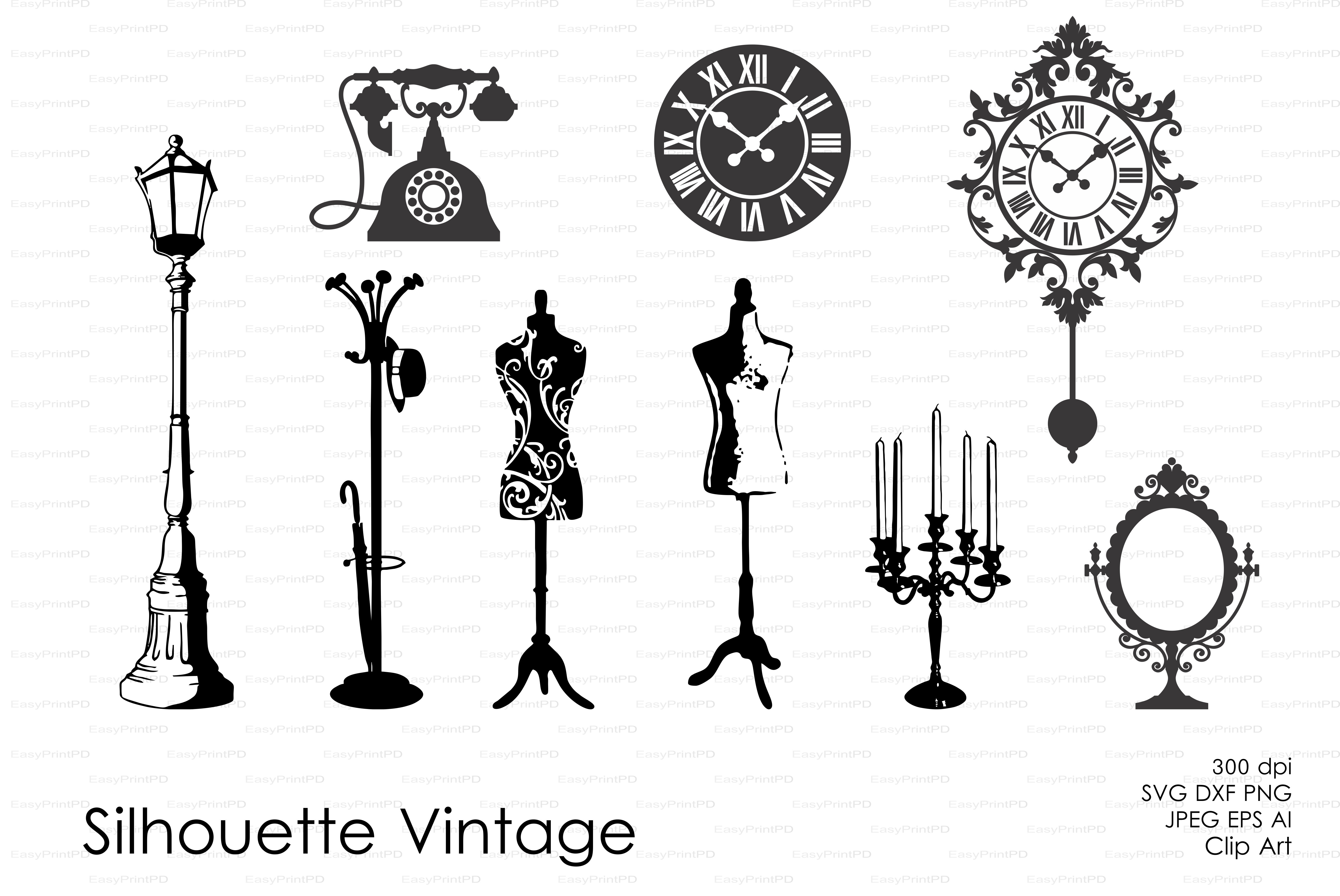 Vintage Silhouette Vector Decal Pre Designed Illustrator Graphics Creative Market