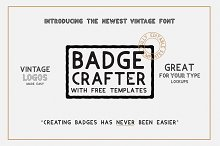 BADGE CRAFTER (Font + LOGO templates