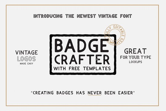 BADGE CRAFTER Font LOGO Templates