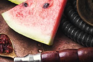 shisha hookah with watermelon