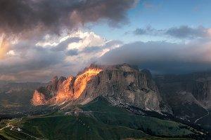 Sunset in Dolomites