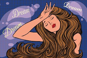 night dream of a beautiful woman