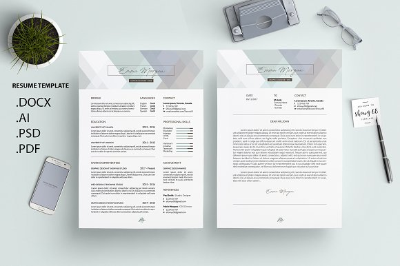 Crystal Pastel CV Resume Template M