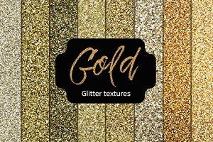 Gold Glitter Textures