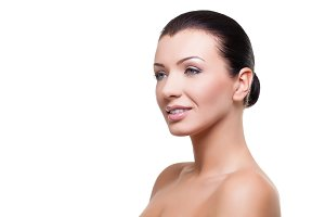 Beautiful girl with healthy skin