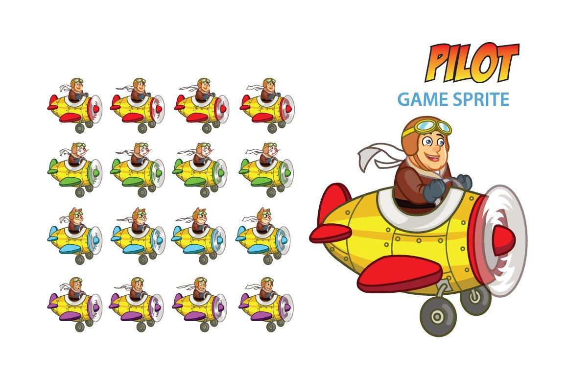 Pilot Game Sprite Illustrations Creative Market