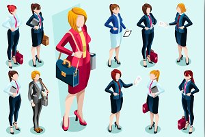 Isometric People Vector Icons