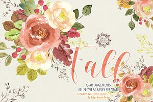 Watercolor Fall design