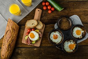 Rustic breakfast