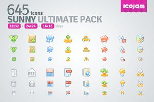 645 icons in Sunny Ultimate Pack