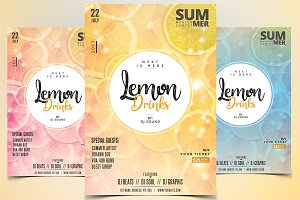Lemon Drinks - PSD Flyer Template