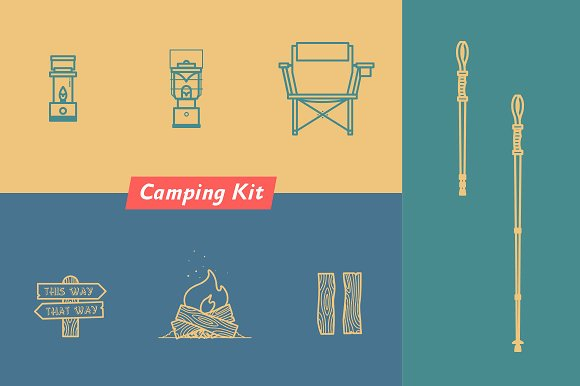 Camping Kit Equipment Accessories