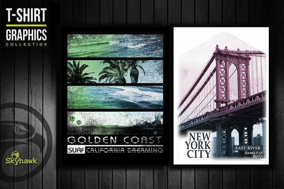 NYC California Tee Shirt Graphics