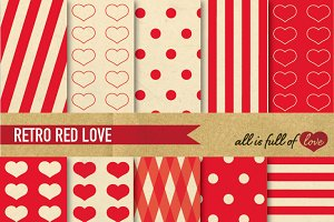 Red Vintage Background Paper
