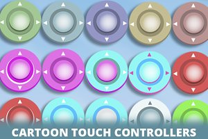 Virtual Joystick Cartoon Pack