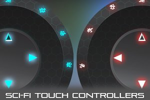 Virtual Joysticks Sci-Fi Pack