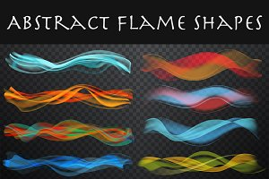 Abstract smooth wave & smoke set