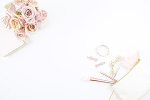 Pink & White Beauty Mockup Photo 1