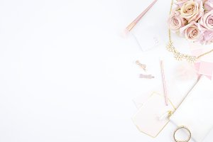 Pink & White Beauty Mockup Photo 5