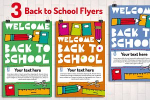 3 Back to School Flyer Templates