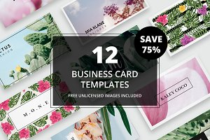 Business card bundle + images No. 01
