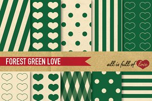Green Digital Background Retro Paper