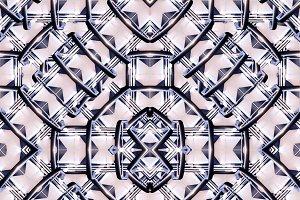 Futuristic Geometric Seamless Pattern Mosaic
