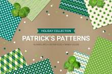 St. Patrick's Day seamless patterns