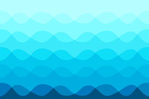 Abstract pattern with blue waves