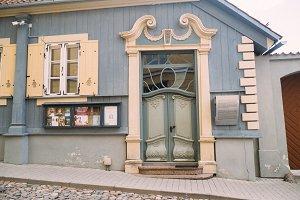 Vintage theatre building facade