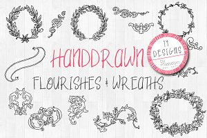 Floral & Flourish Handdrawn Graphics