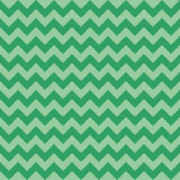 Chevron Pattern Green