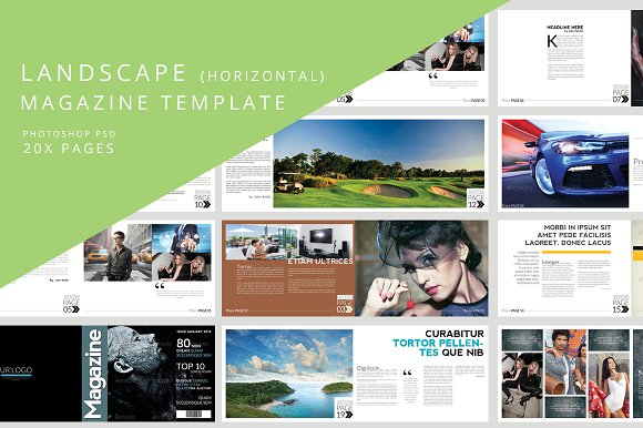 Landscape Magazine Template