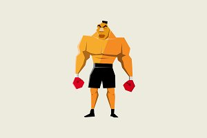 Mike Tyson Character Illustration