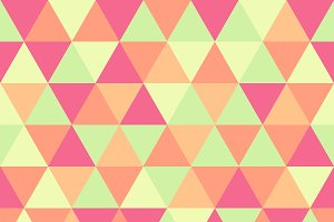 Triangle pattern, green and pink