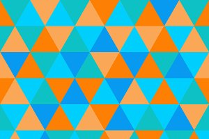 Triangle pattern, orange and blue